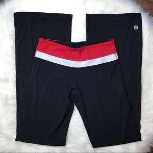 Reversible Lululemon Black Red Yoga Pants
